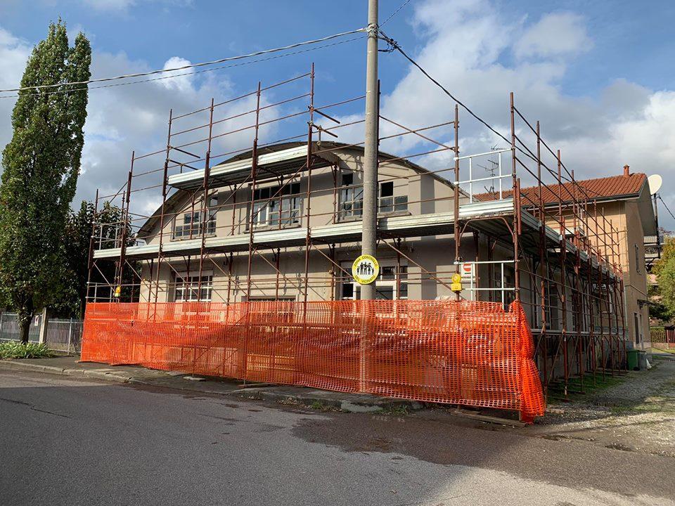 noleggio ponteggi milano - cantiere nova milanese